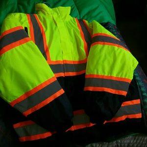 new work neon 3xlarge jacket man's